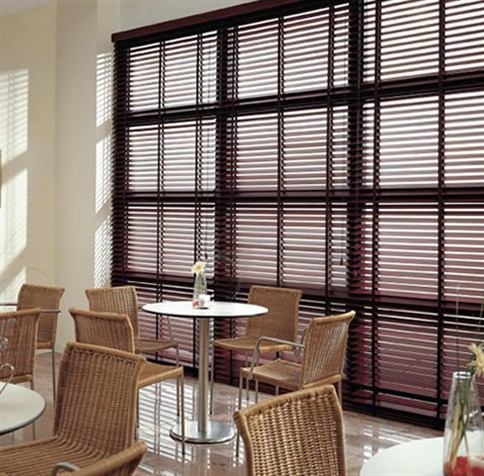 Wooden and Leather Venetian Blinds