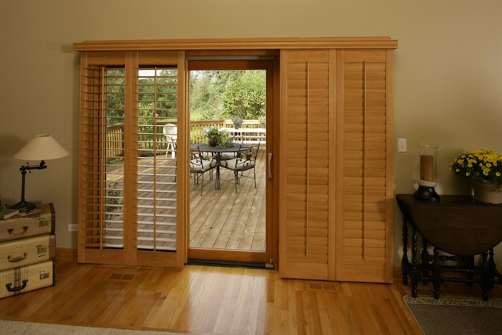 Sliding wood panels and shutters